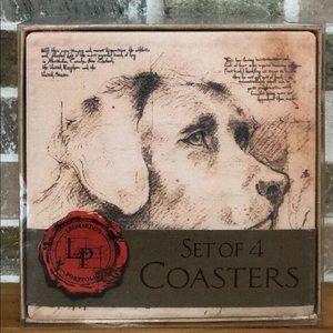 Leonardo's Portfolio Set 4 Coasters Dog Labrador